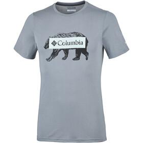 Columbia Box Logo Bear Camiseta Hombre, grey ash
